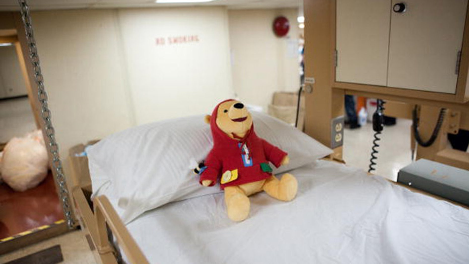 PORT-AU-PRINCE, HAITI - JANUARY 21: A Winnie the Pooh doll awaits patients in the pediatric ward on board the USNS Comfort, a U.S. Naval hospital ship, on January 21, 2010 in Port-au-Prince, Haiti. The Comfort deployed from Baltimore with 550 medical personnel on board to treat victims of Haiti's recent earthquake, and arrived on January 20. (Photo by Brendan Hoffman/Getty Images)