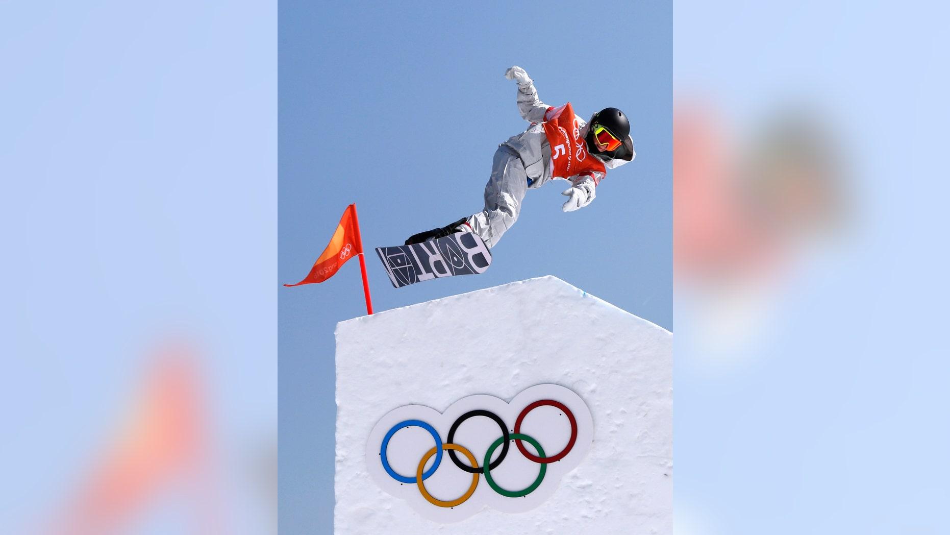 File photo - Snowboarding - Pyeongchang 2018 Winter Olympics February 8, 2018 - An unidentified athlete trains. (REUTERS/Issei Kato)