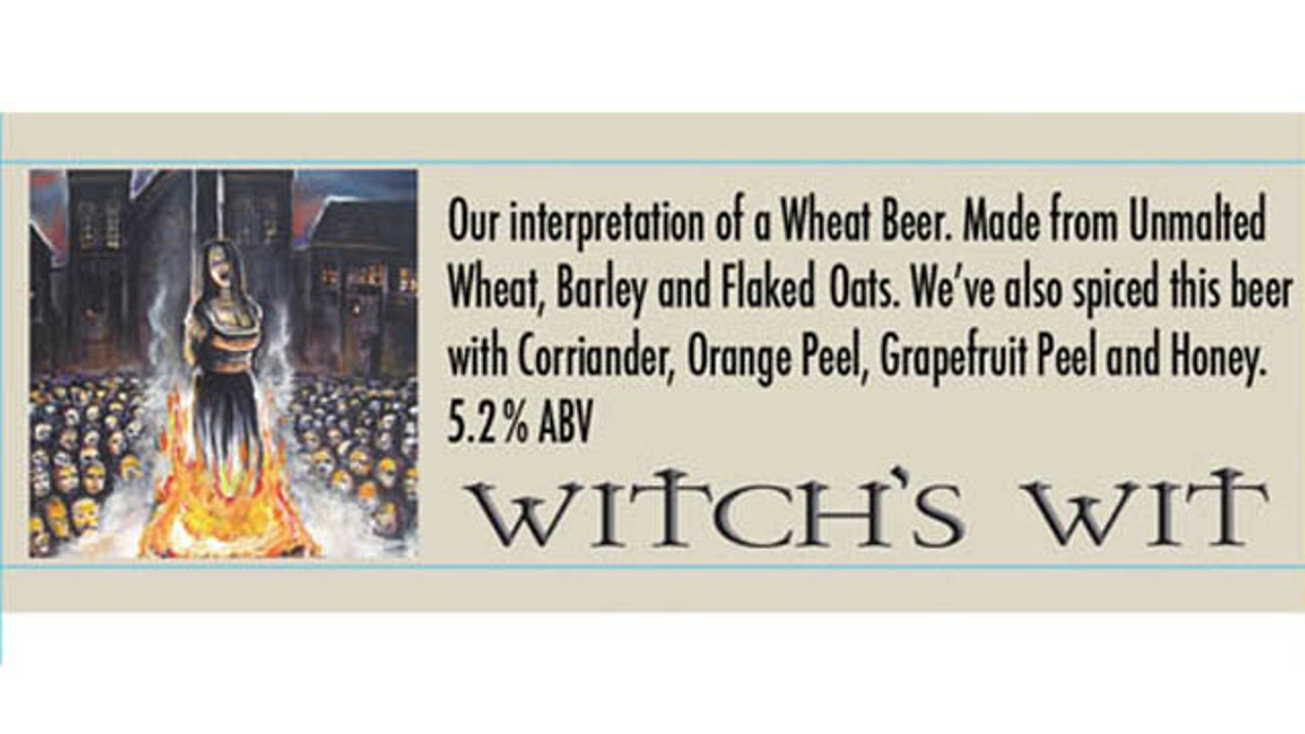Witch's Wit label