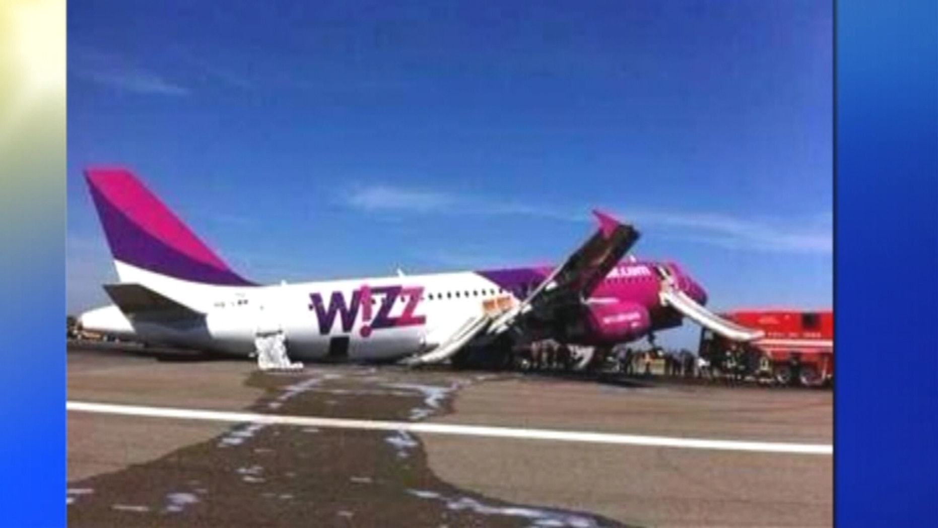 Officials at Rome's Leonardo da Vinci airport says a Wizz Air jet has made a safe emergency landing there after reporting a landing gear problem.