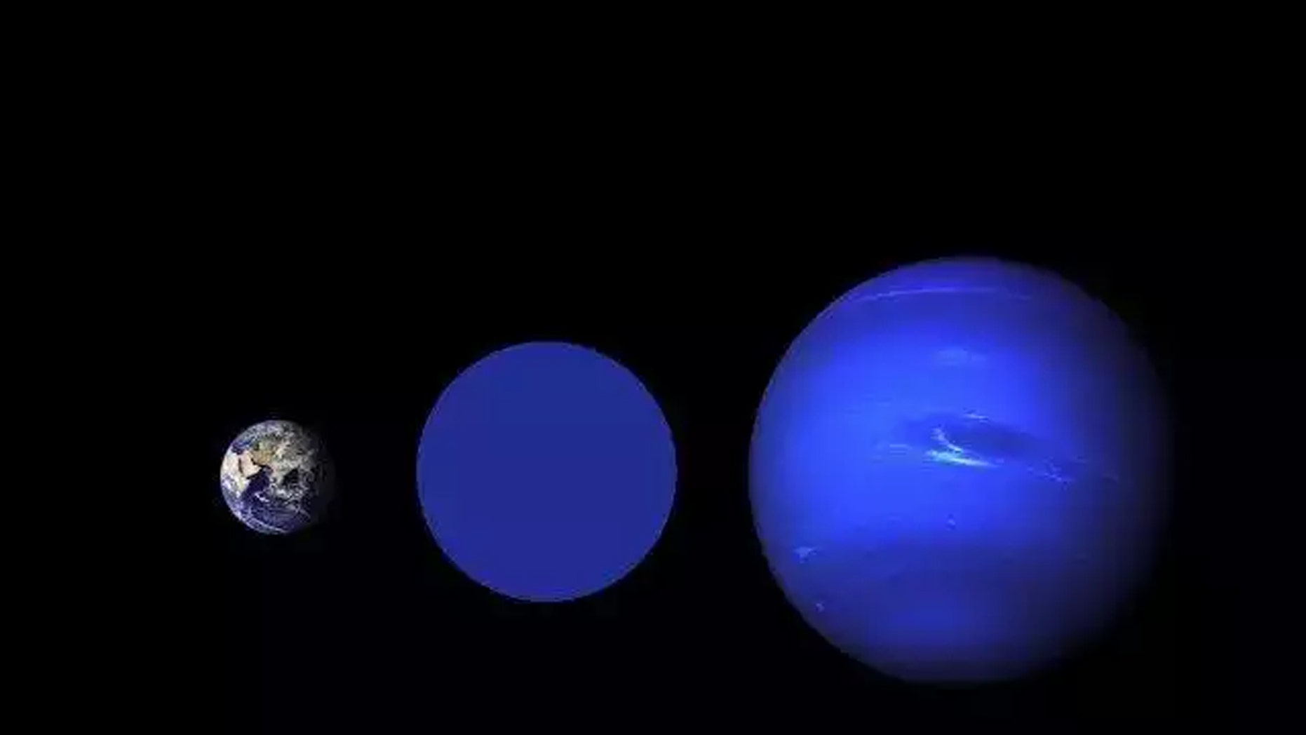 (Credit: NASA Goddard/Robert Simmon (Earth), NASA / JPL (Neptune))
