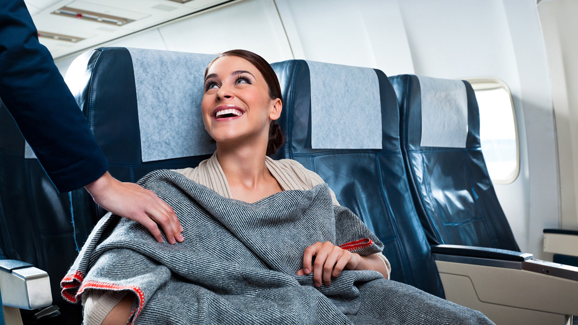 Passengers are apparently swiping high-end blankets and pillows from their planes after landing.