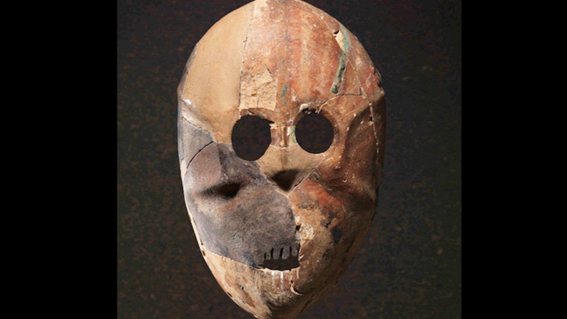 Researchers think these masks could have been worn comfortably on the face during ancient rituals. This mask comes from the site of Horvat Duma in the Judean Hills.
