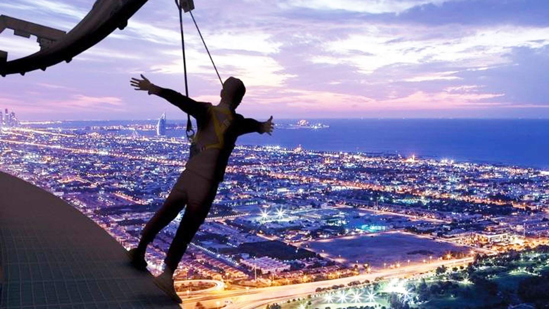 Dubai is calling all serious daredevils to just hang out-- 900 feet above the ground.