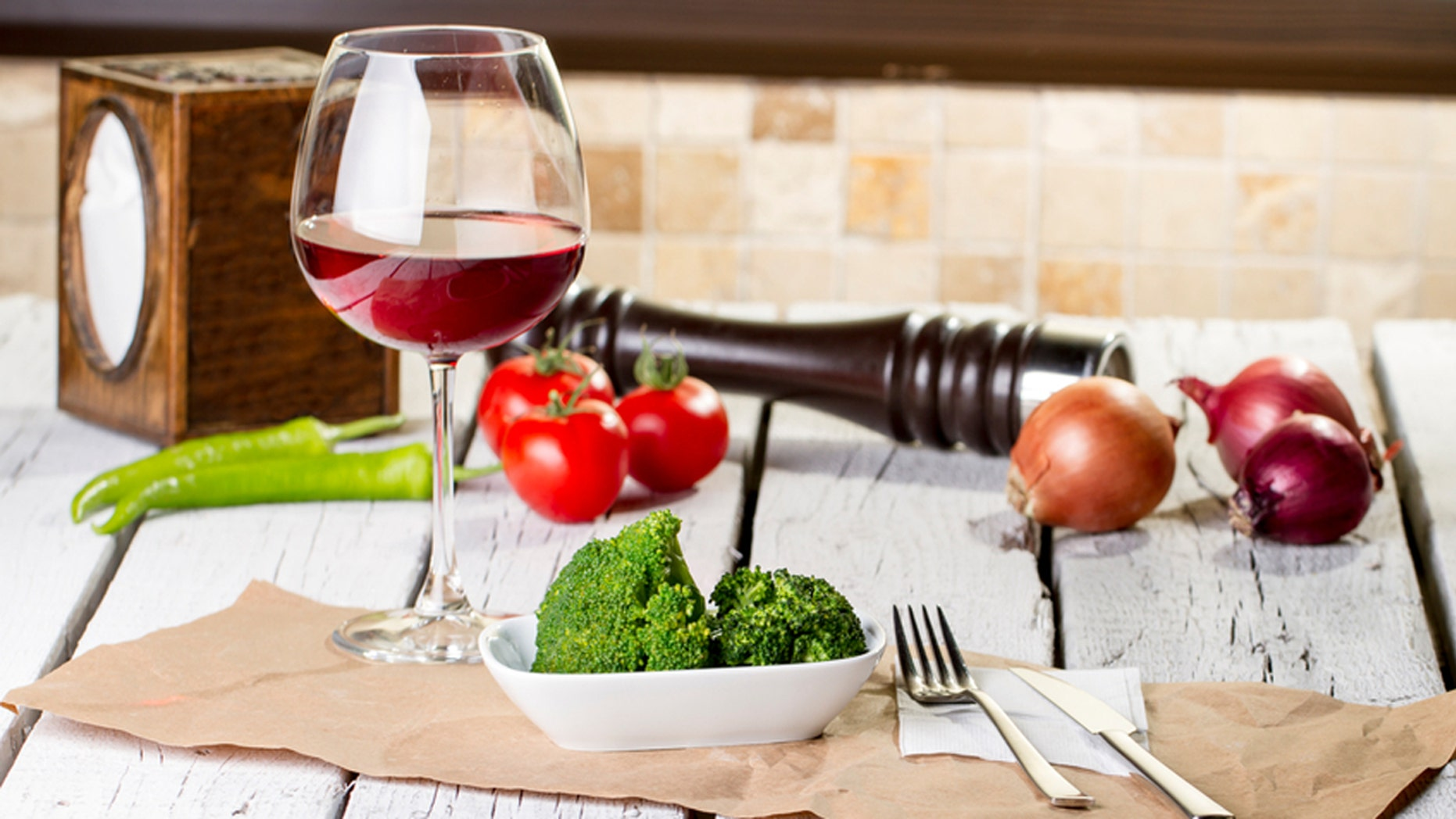 Is drinking wine better for you than eating broccoli? Scientists say probably not.
