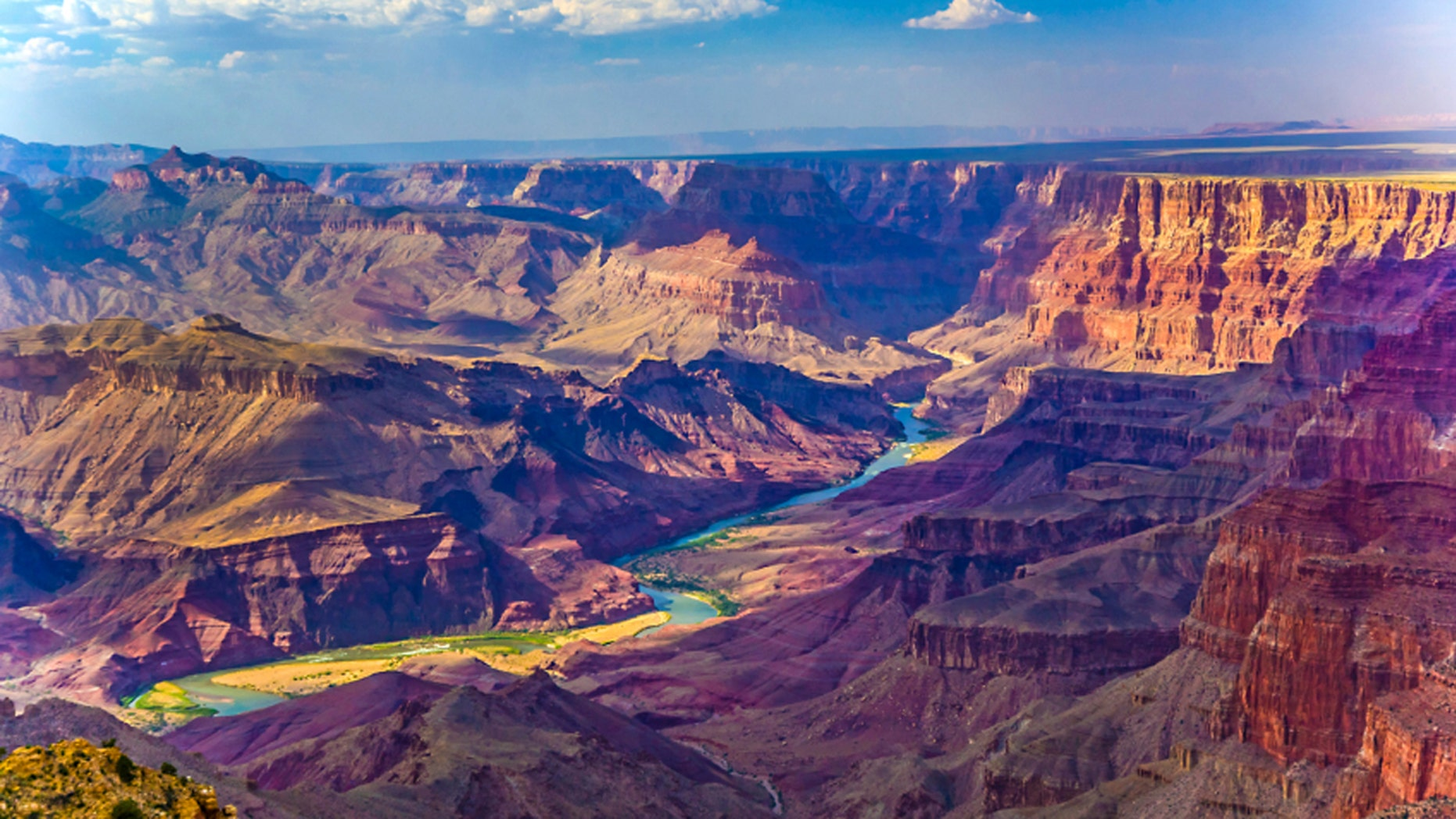 FILE -- Grand canyon at sunrise with the Colorado river