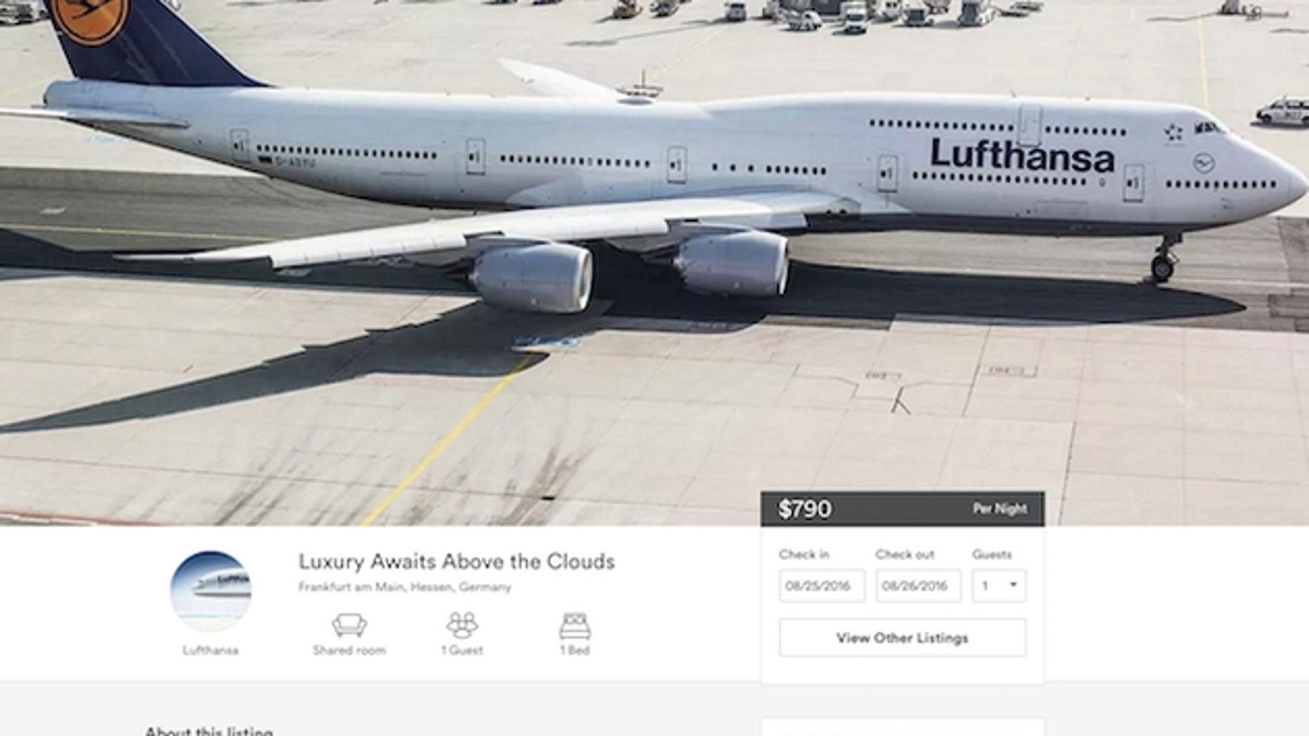 Fancy a flight-- or stay-- on a Lufthansa flight through rental site Airbnb?