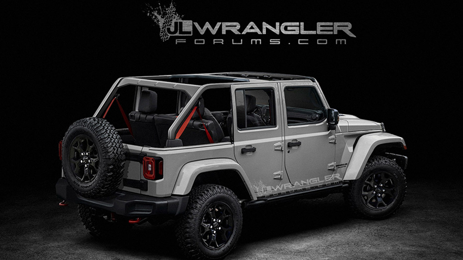 Speculative rendering of the 2019 Jeep Wrangler