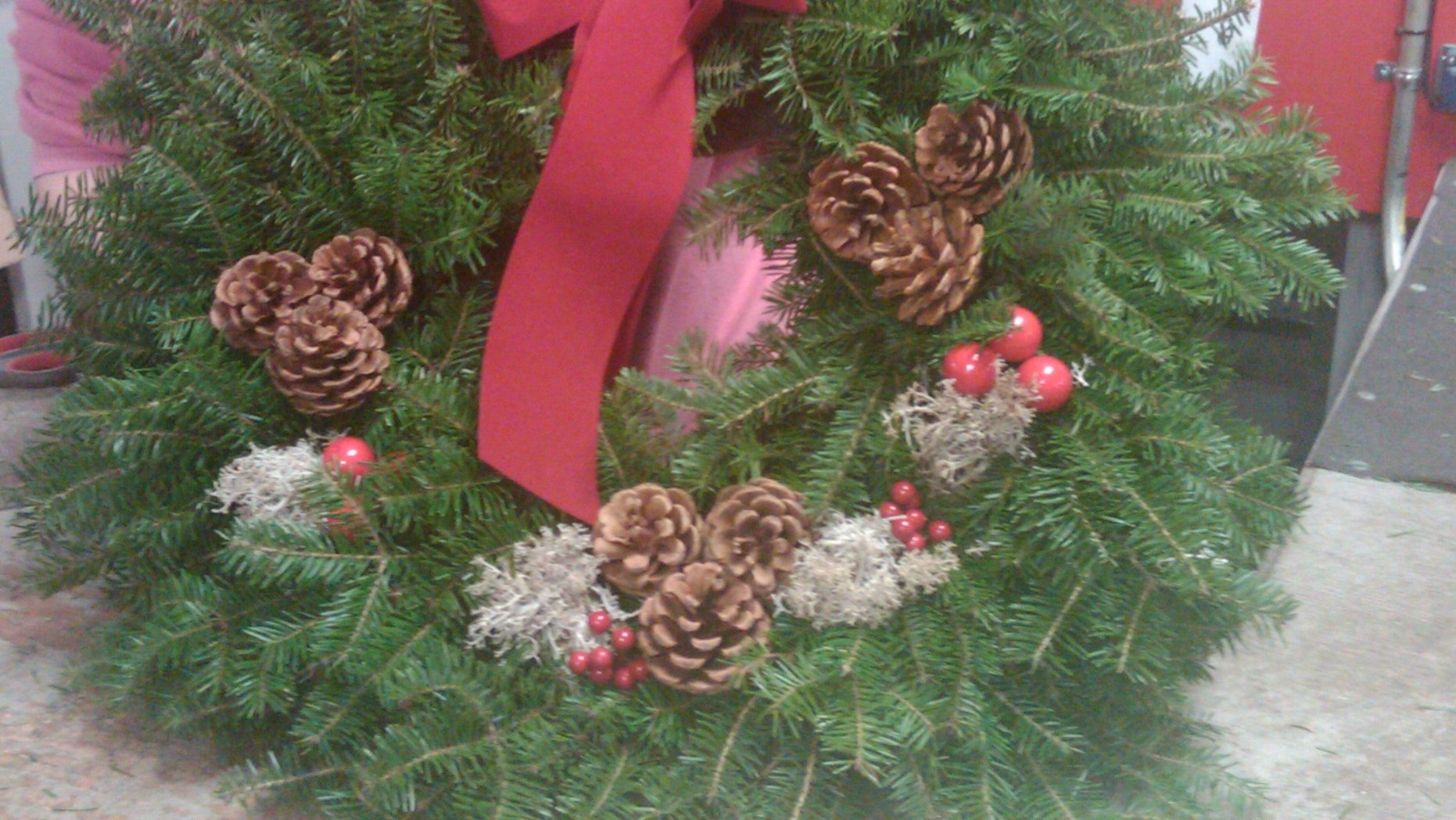 Dec. 2: A Christmas wreath made by Whitney Wreath company in Maine.