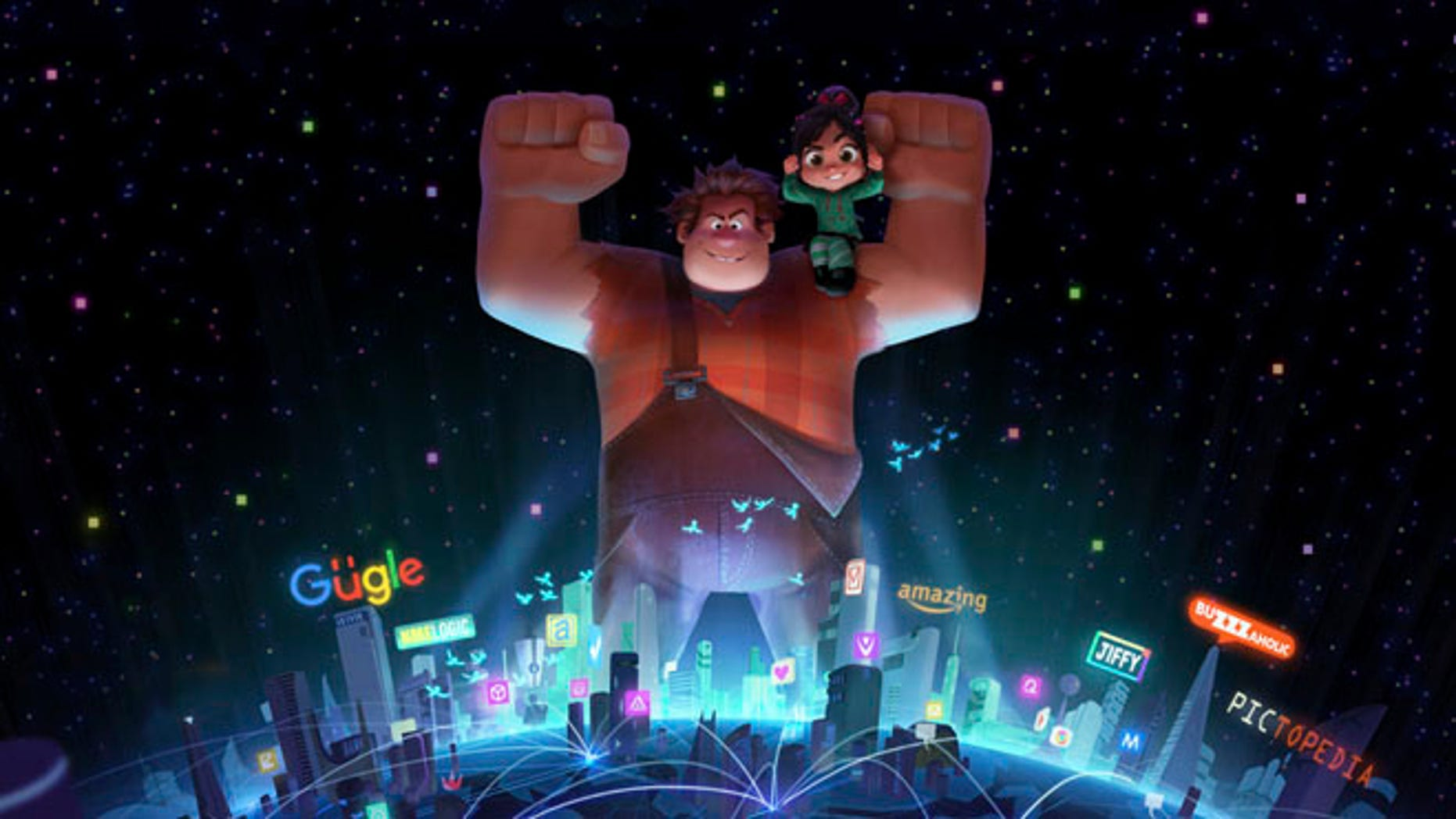 An image from the upcoming animated sequel film, 'Wreck-It Ralph 2.'