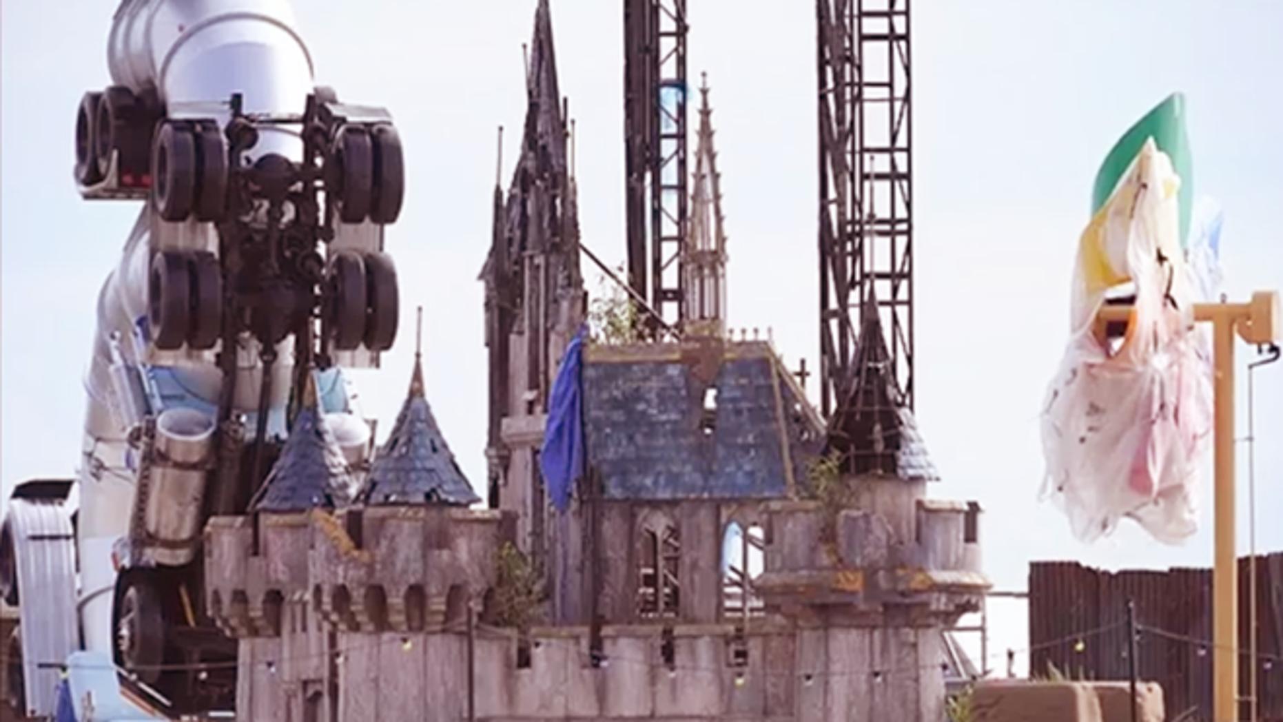 A peek inside Dismaland, rumored to be Banksy's dismal take on a Disney theme park.