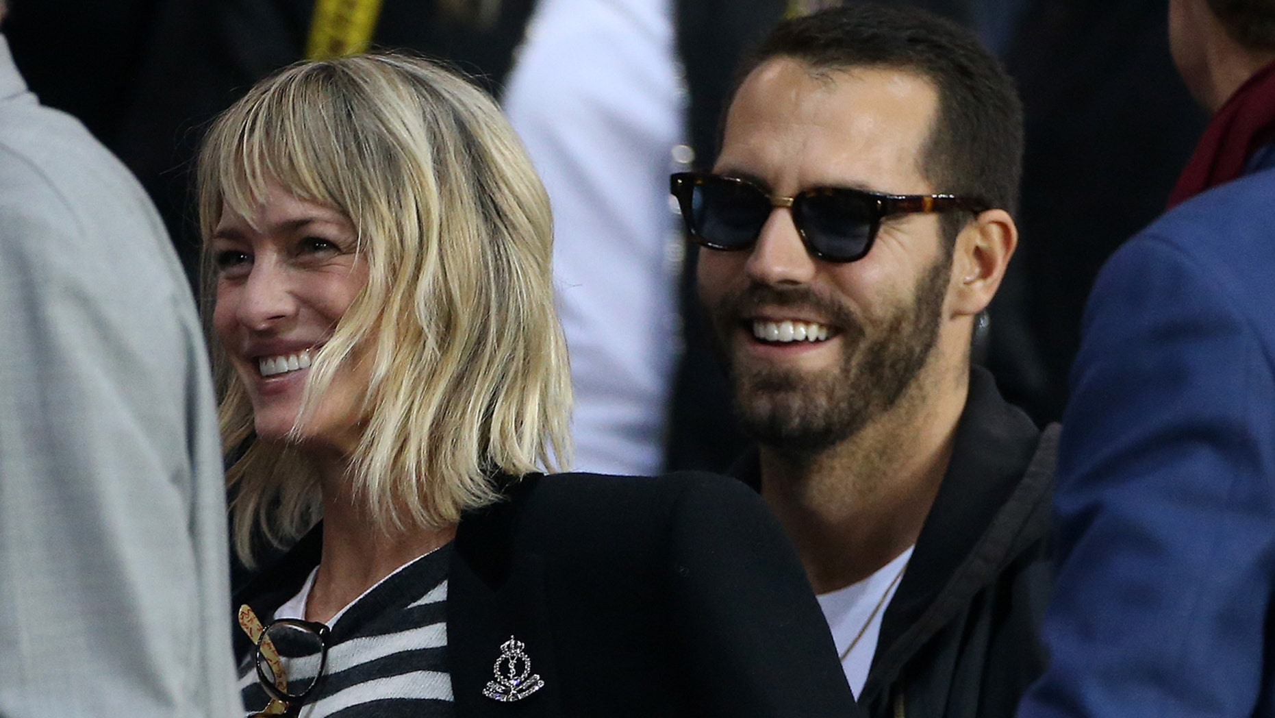 Robin Wright was spotted out in Tahoe with rumored new boyfriend, Clement Giraudet. Here Wright attends the UEFA Champions League match with Giraudet at Parc des Princes in Paris, September 2017.