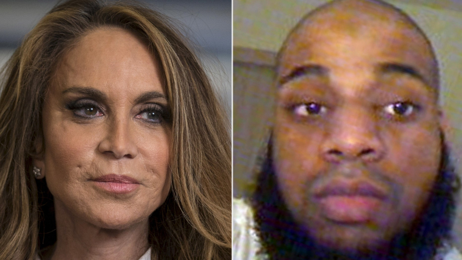 David Wright, right, was sentenced to 28 years in prison Tuesday for plotting to behead conservative blogger Pamela Geller, left.