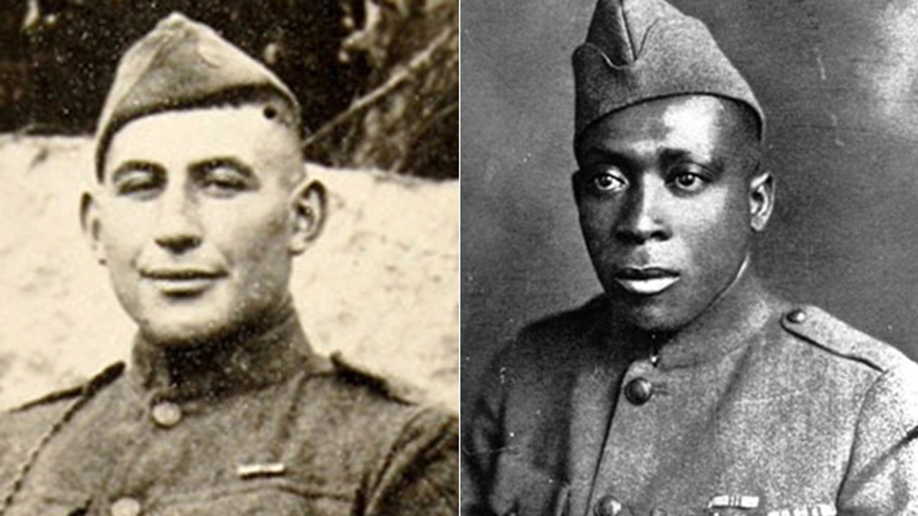 William Shemin, (l.) and Henry Johnson, (r.), are set to be posthumously awarded the Medal of Honor. (Shemin photo courtesy of family; Johnson photo courtesy U.S. Army)