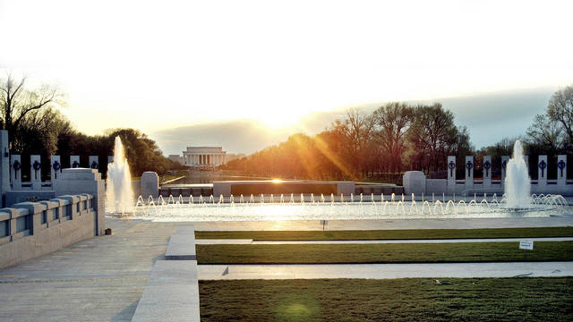 Shown here is the World War II Memorial in Washington, D.C.