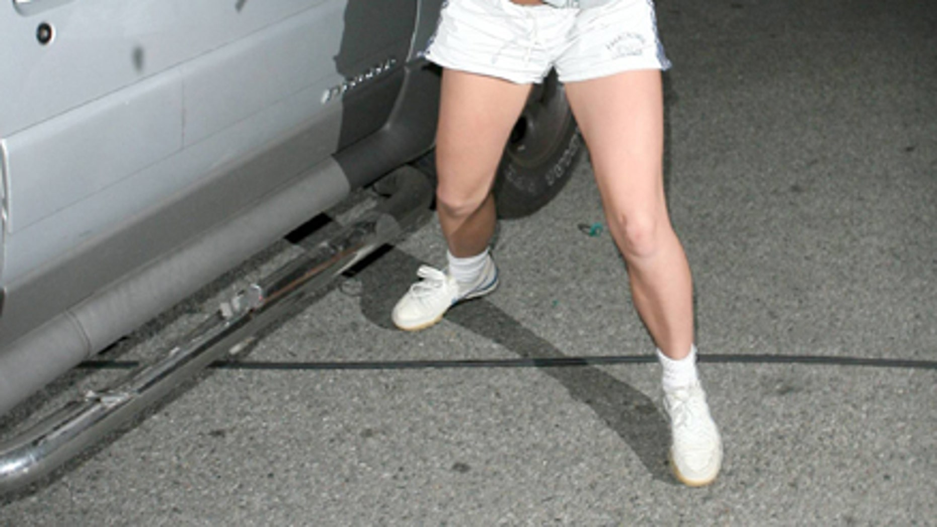 Britney Spears took an umbrella and hit an empty car Feb 21, 2007.