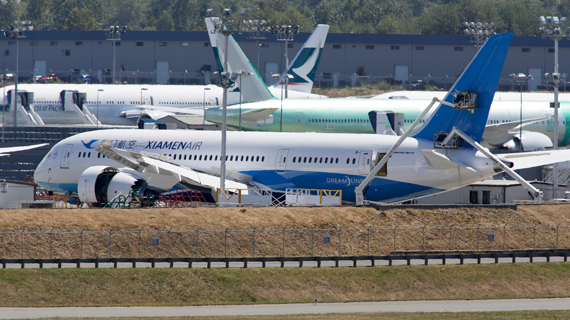 The Xiamen Air flight had stopped to restock when the incident occurred.