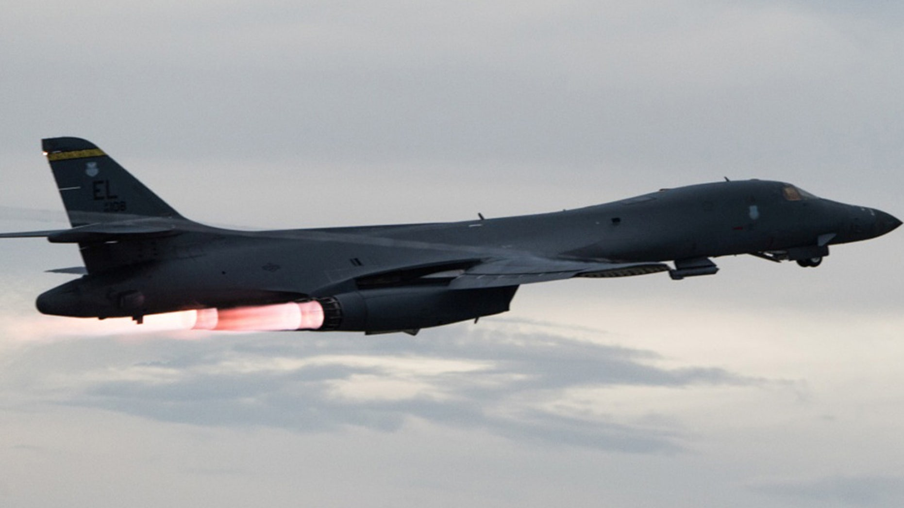 Two U.S. B-1B bombers conducted drills with South Korean and Japanese fighters in central South Korea.