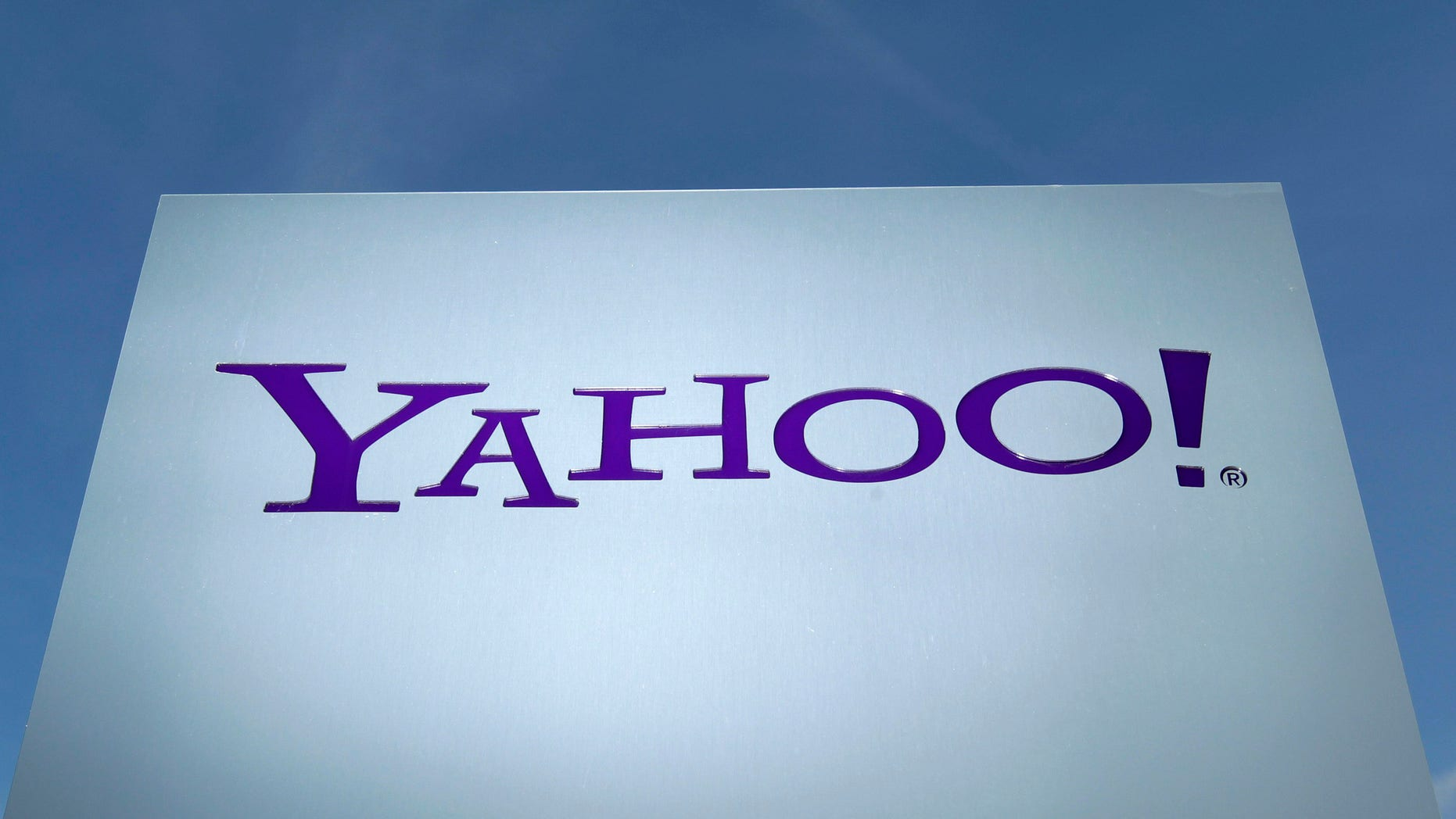 Feb. 7, 2014:  Yahoo logo is pictured in front of a building in Rolle, 19 miles east of Geneva.