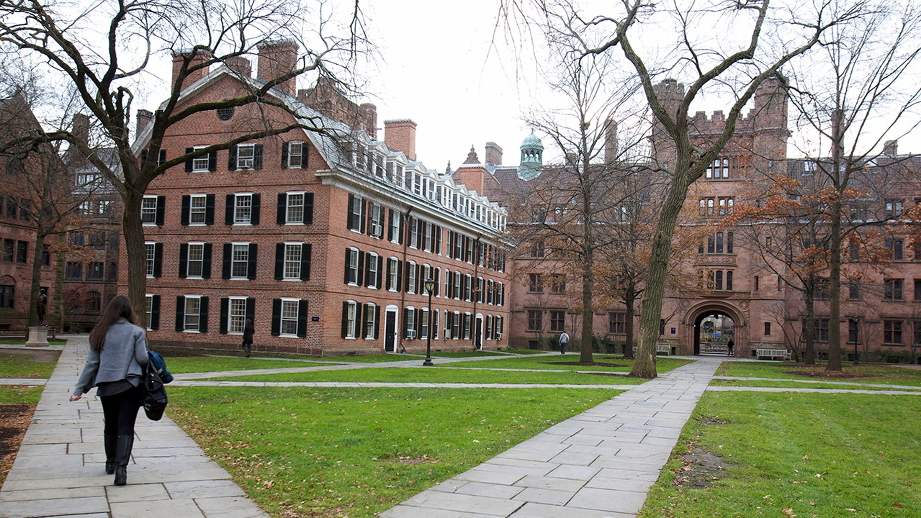 Old Campus at Yale University in New Haven, Connecticut.