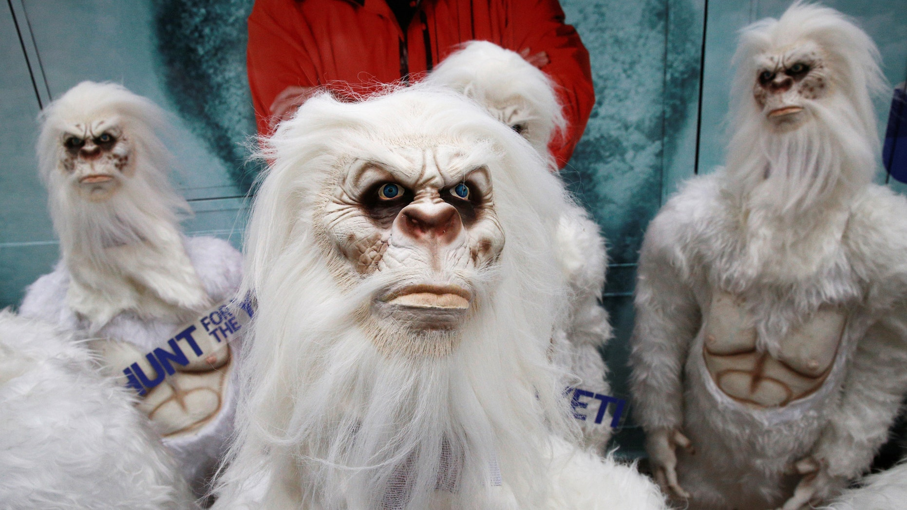 """File photo - Actors dressed as a 'Yeti' attend a promotional event for Travel Channel's """"Expedition Unknown: Hunt for the Yeti"""" in Manhattan, New York City, U.S., Oct.4, 2016. (REUTERS/Brendan McDermid)"""