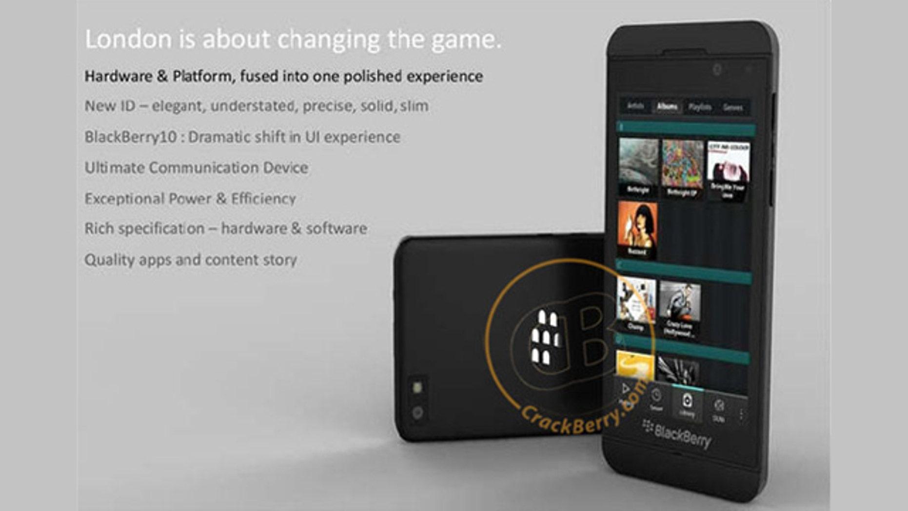Is this RIM's new BlackBerry phone?
