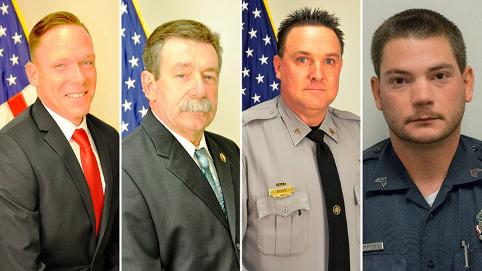 Christian Thomas McCall, 47, was accused of shooting Det. Michael Doty, Sgt. Randy Clinton, Sgt. Buddy Brown and Sgt. Kyle Cummings early Tuesday morning in York, S.C.