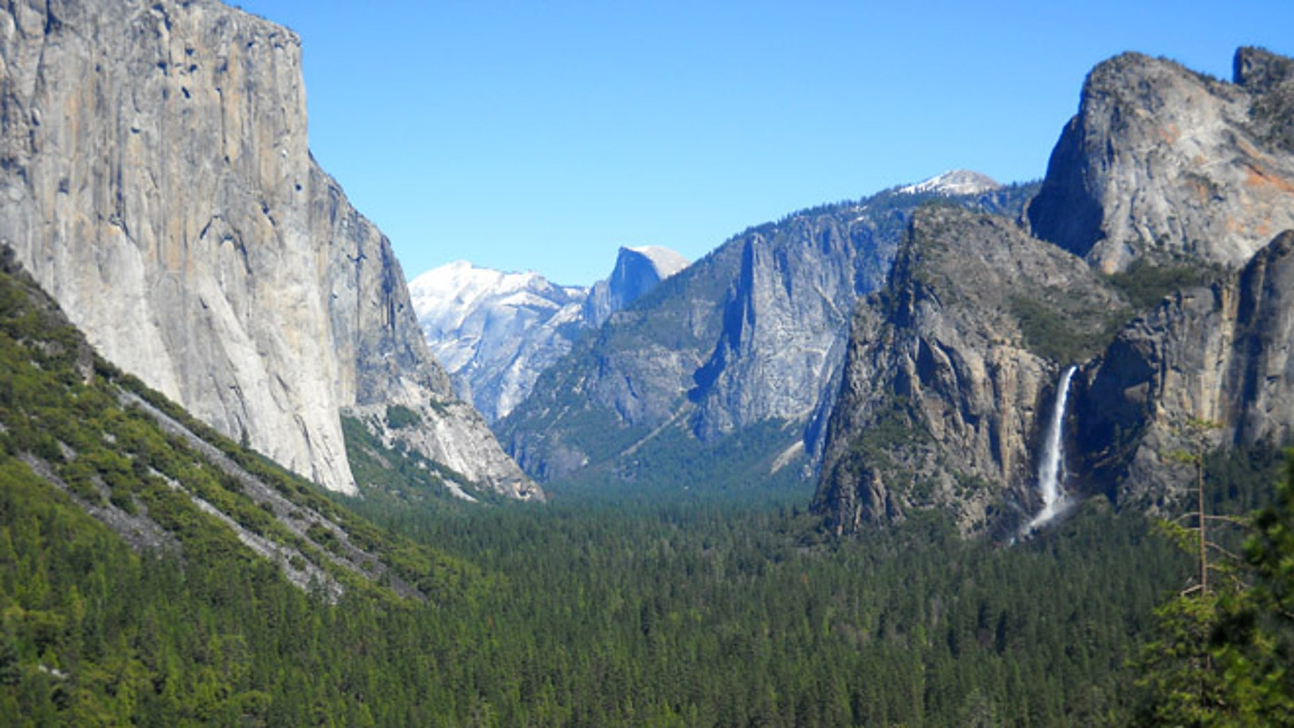 This April 2013 image shows Yosemite Valley at Yosemite National Park in California.