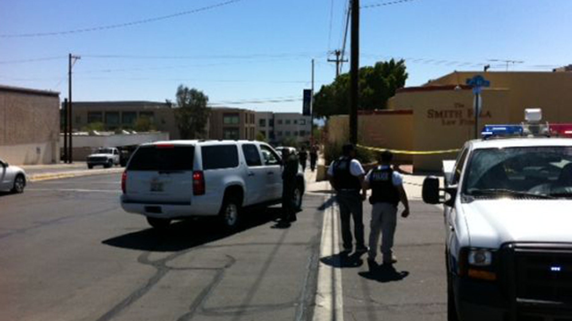 June 2: Police investigate a crime scene after a series of shootings occurred around Yuma, Arizona.