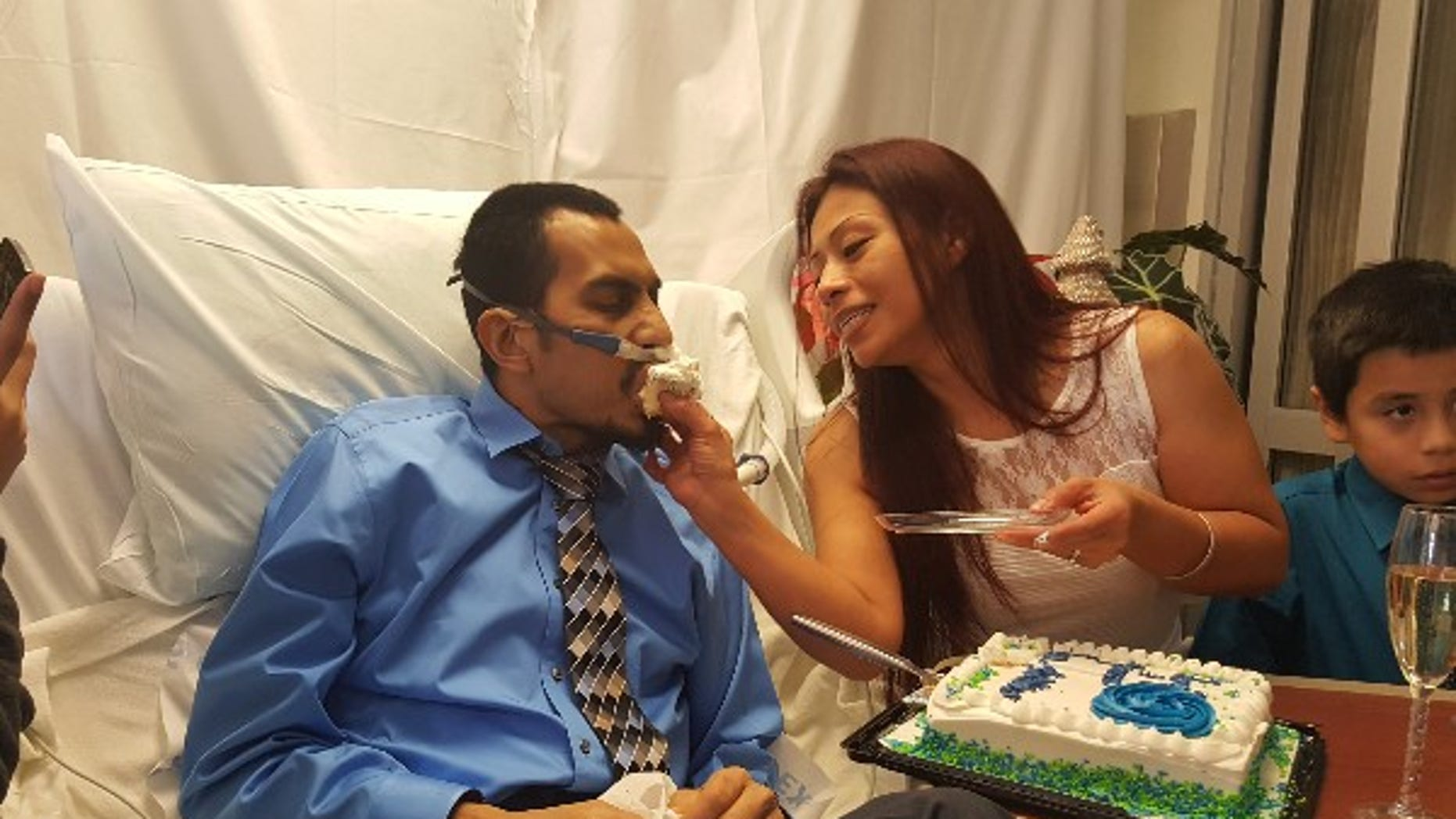 Yvonne and Raul were married last Friday, just 36 hours before he died.
