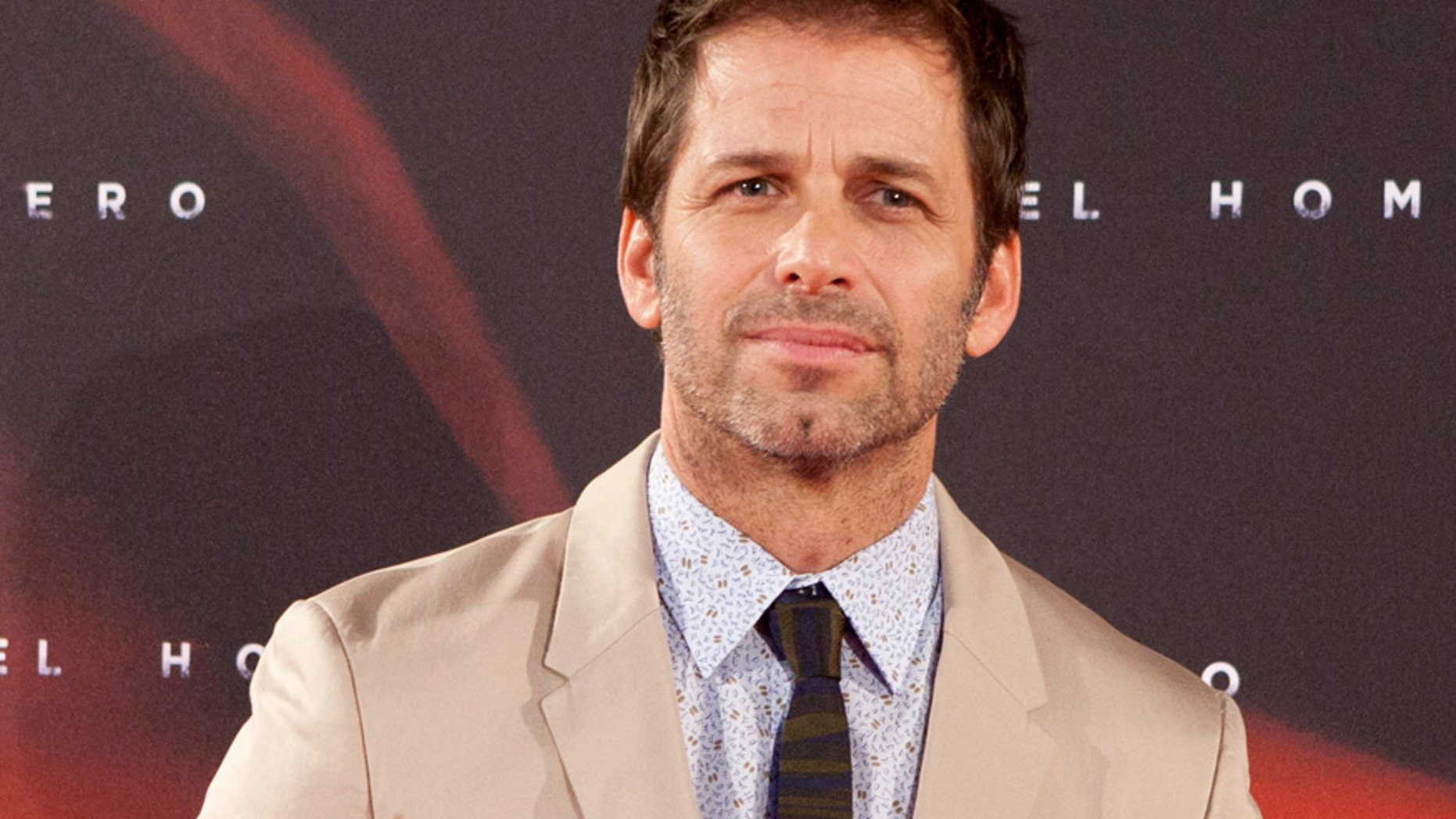"""In this June 17, 2013 file photo, director Zack Snyder attends spanish premiere of the film """"Man of Steel"""" in Madrid."""
