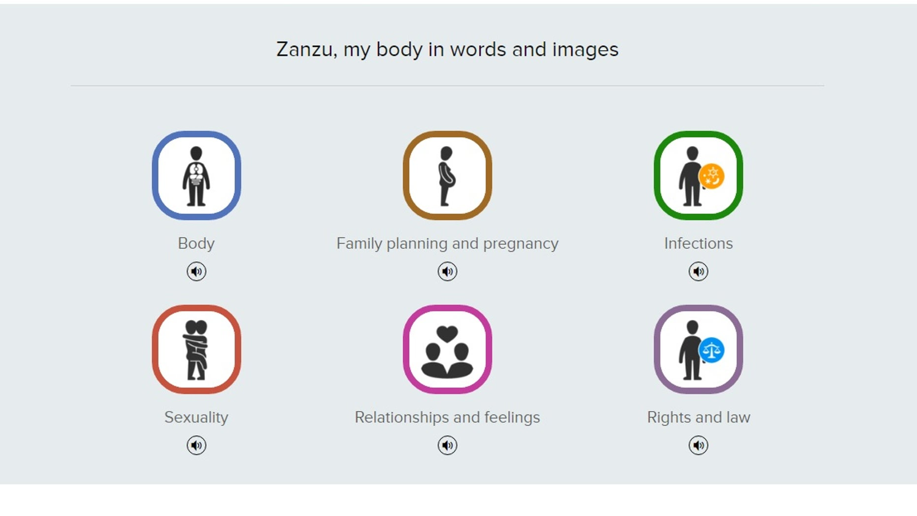 Zanzu, the website launched by the Flemish Expertise Centre for Sexual Health and the German Federal Centre for Health Education.