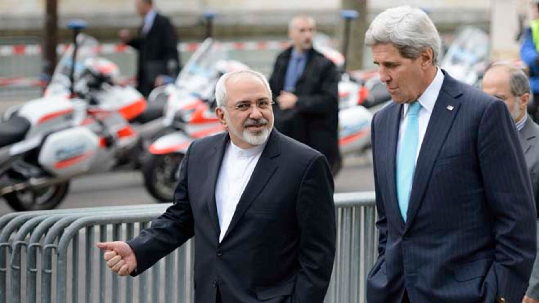Although the UN is holding the talks, US Secretary of State John Kerry, and Iranian Foreign Minister Mohammad Javad Zarif have been doing most of the negotiating in Geneva. (AP)