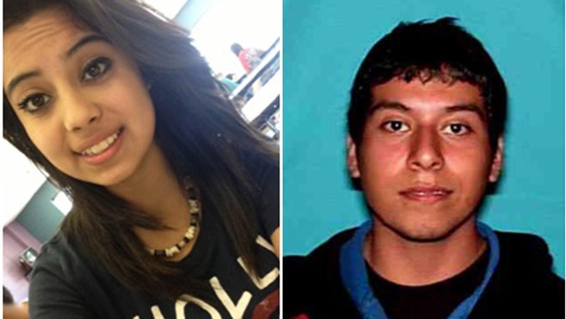 Ruby Zavala, 14, and Jesus Ramirez, 22.