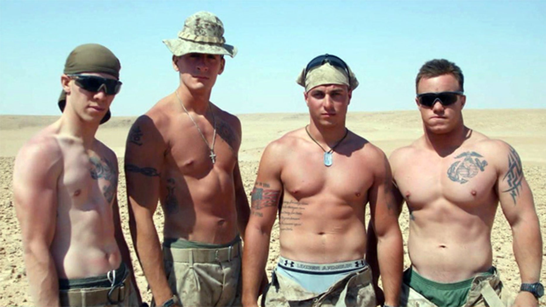 Marine Ben Zellman (l) has been identified as the Marine who owned a camera with photos from Iraq that was found in Washington nine years ago. (Fox 5 DC)