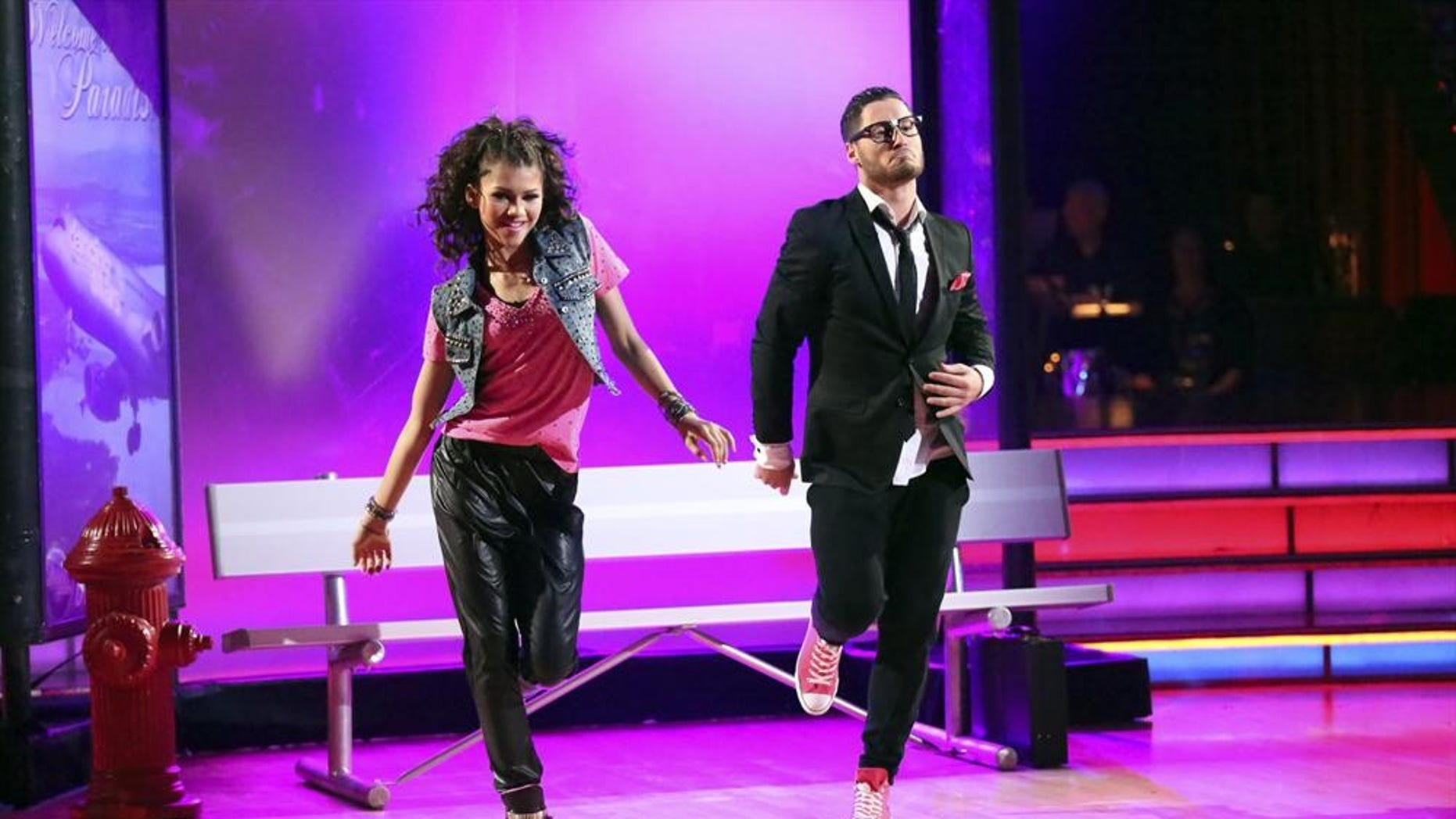 "Zendaya and Val Chmerkovskiy appear on ""Dancing with the Stars."""