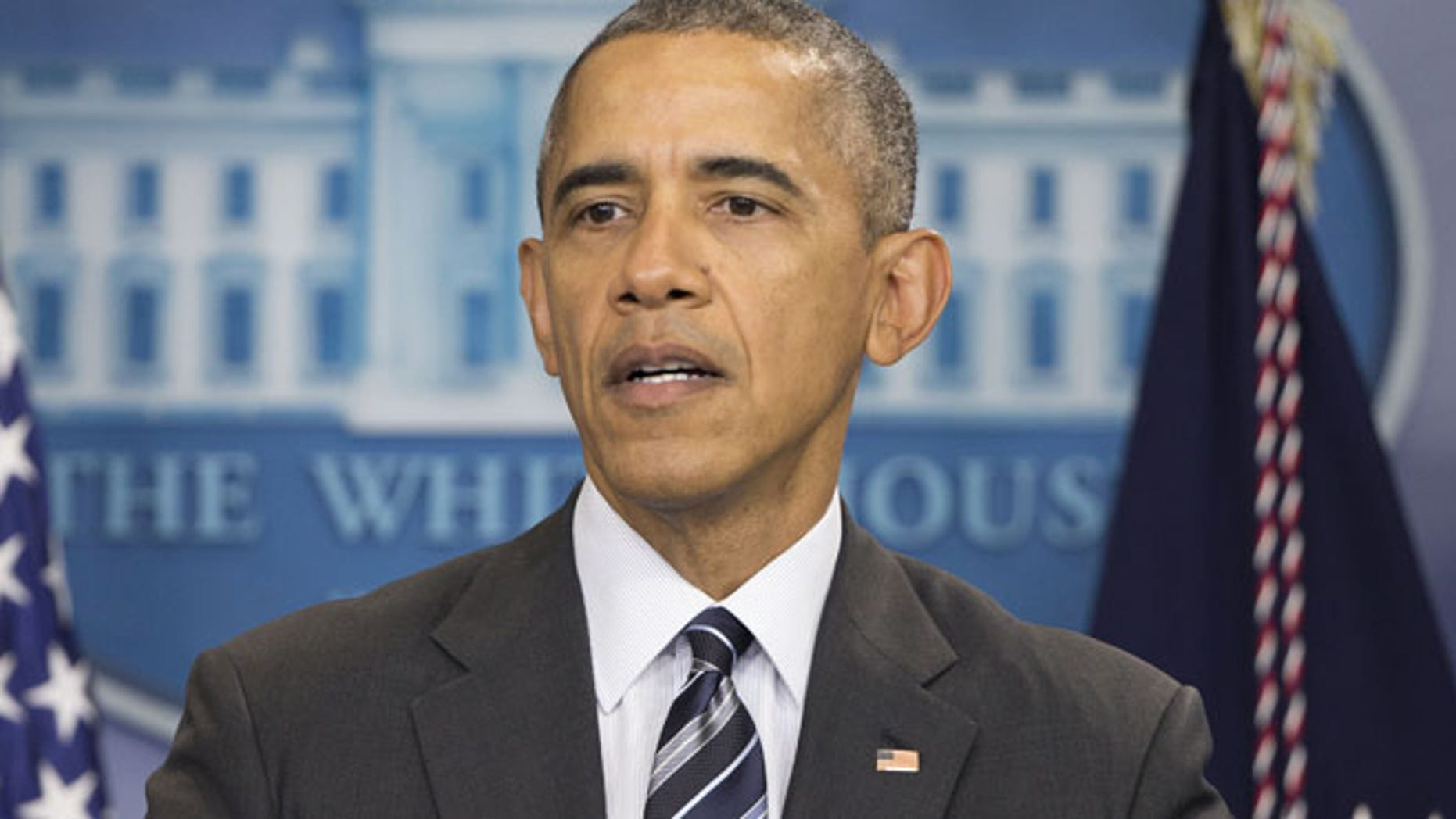 Feb. 5, 2016: President Barack Obama speaks in the Brady Press Briefing Room of the White House in Washington.