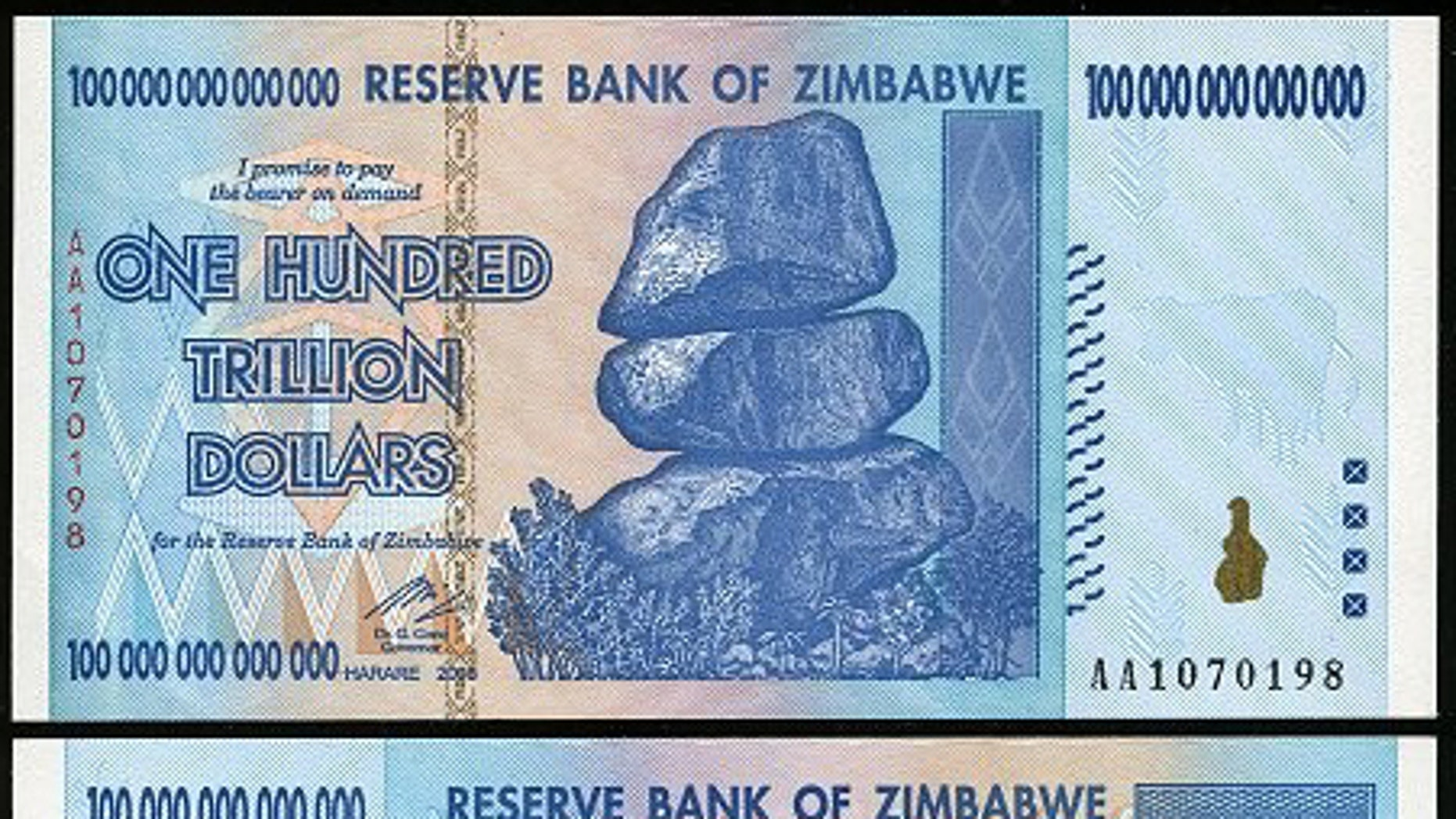 Some Zimbabweans will be able to exchange $35 quadrillion local dollars for just one U.S. dollar as the country phases out its old currency. The country's central bank says it needs to complete the implementation of a multi-currency system introduced during a period of hyper-inflation that stalled its economy.
