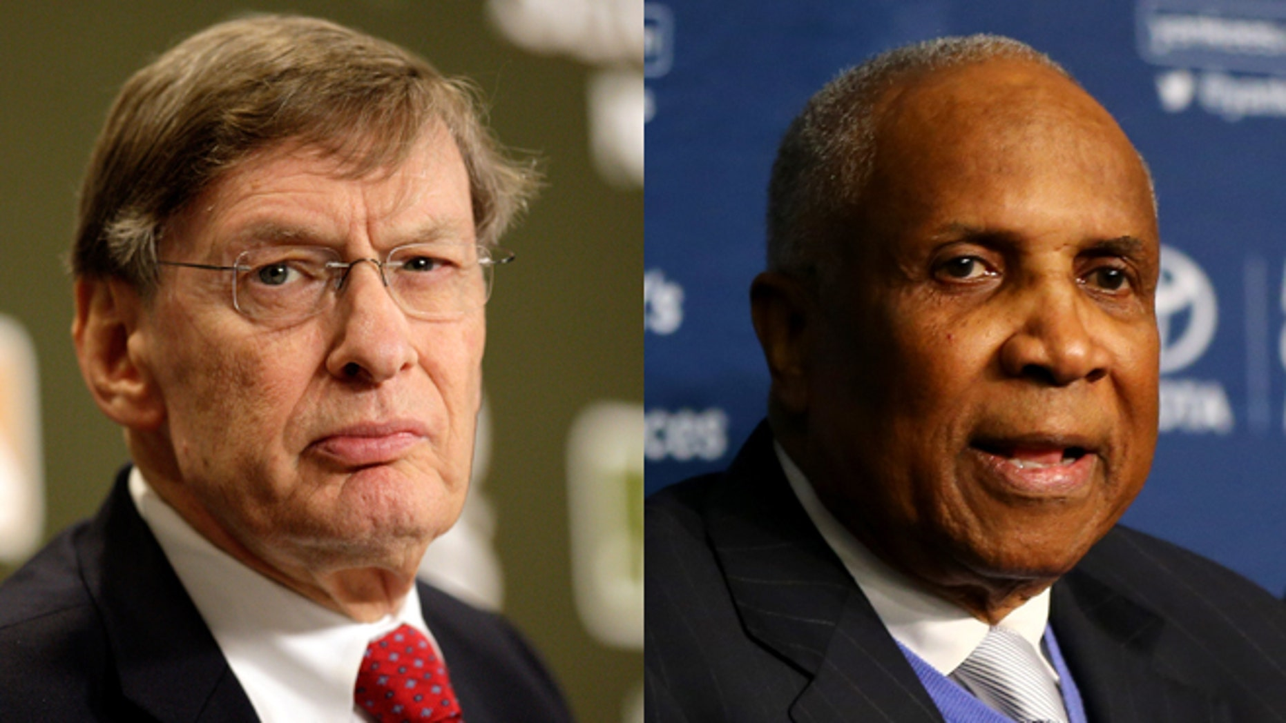 Bud Selig (left) and Frank Robinson. (Photos: Getty)