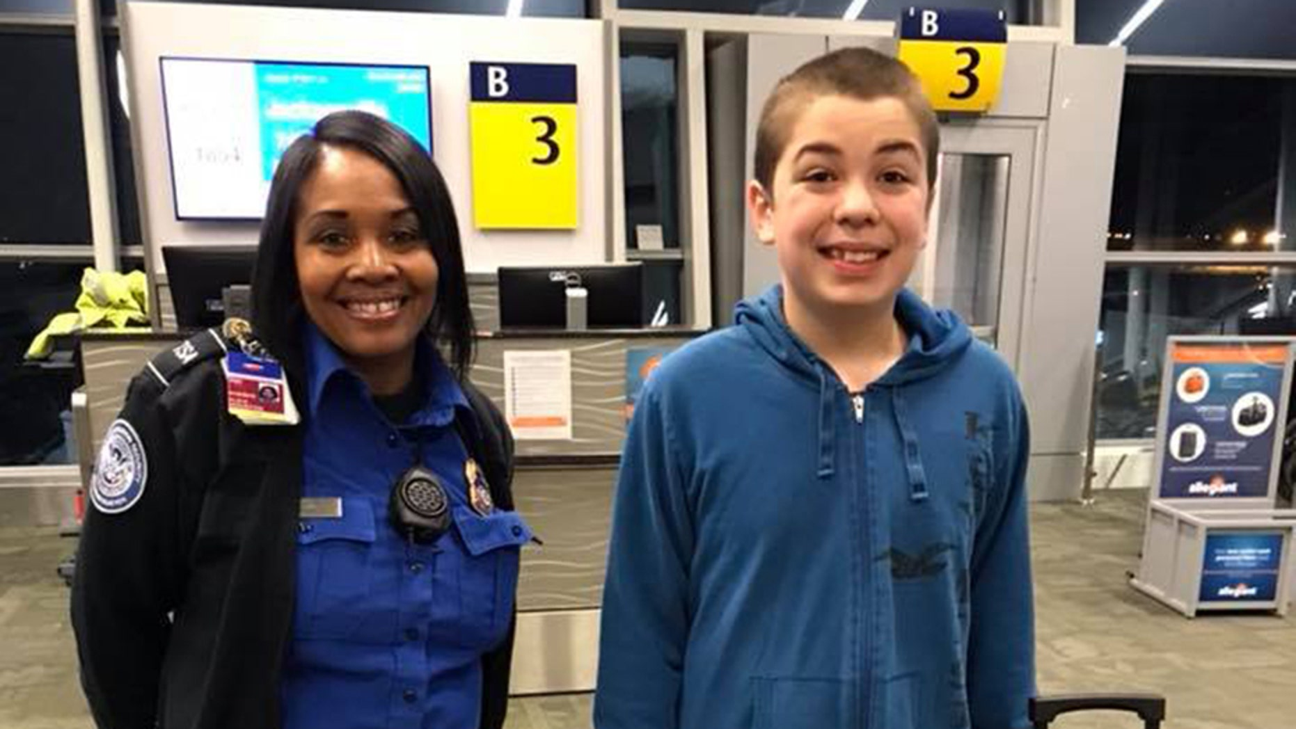 Angie Solis says a TSA employee named Alesea saved her autistic son — and Solis herself — from stressing out at the airport.