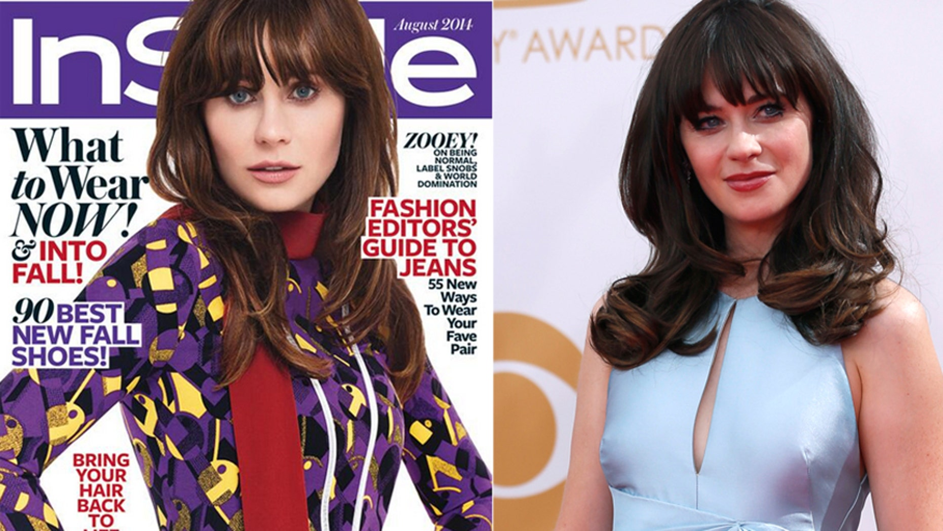 Zooey Deschanel appears on the cover of InStyle and at the 65th Primetime Emmy Awards.