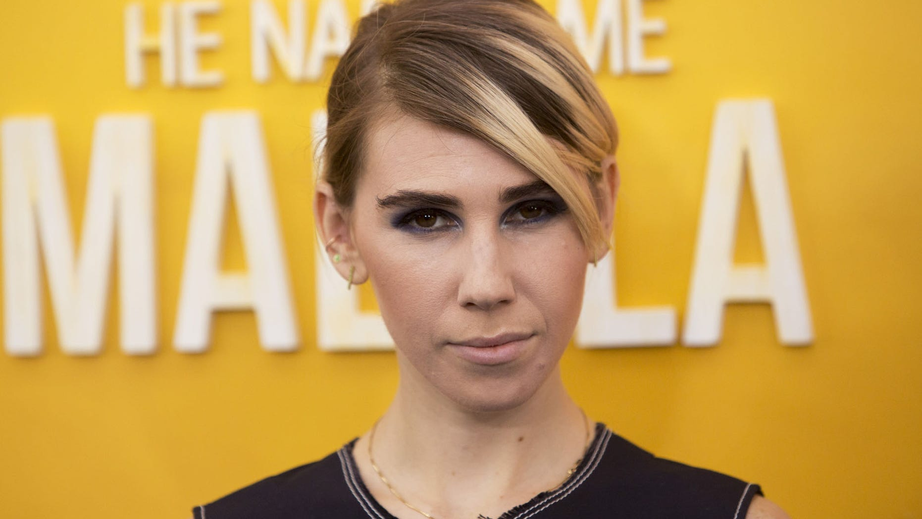 """Actress Zosia Mamet attends the premiere of """"He Named Me Malala"""" at the Ziegfeld Theater in Manhattan, New York, September 24, 2015. REUTERS/Andrew Kelly - RTX1SCUP"""
