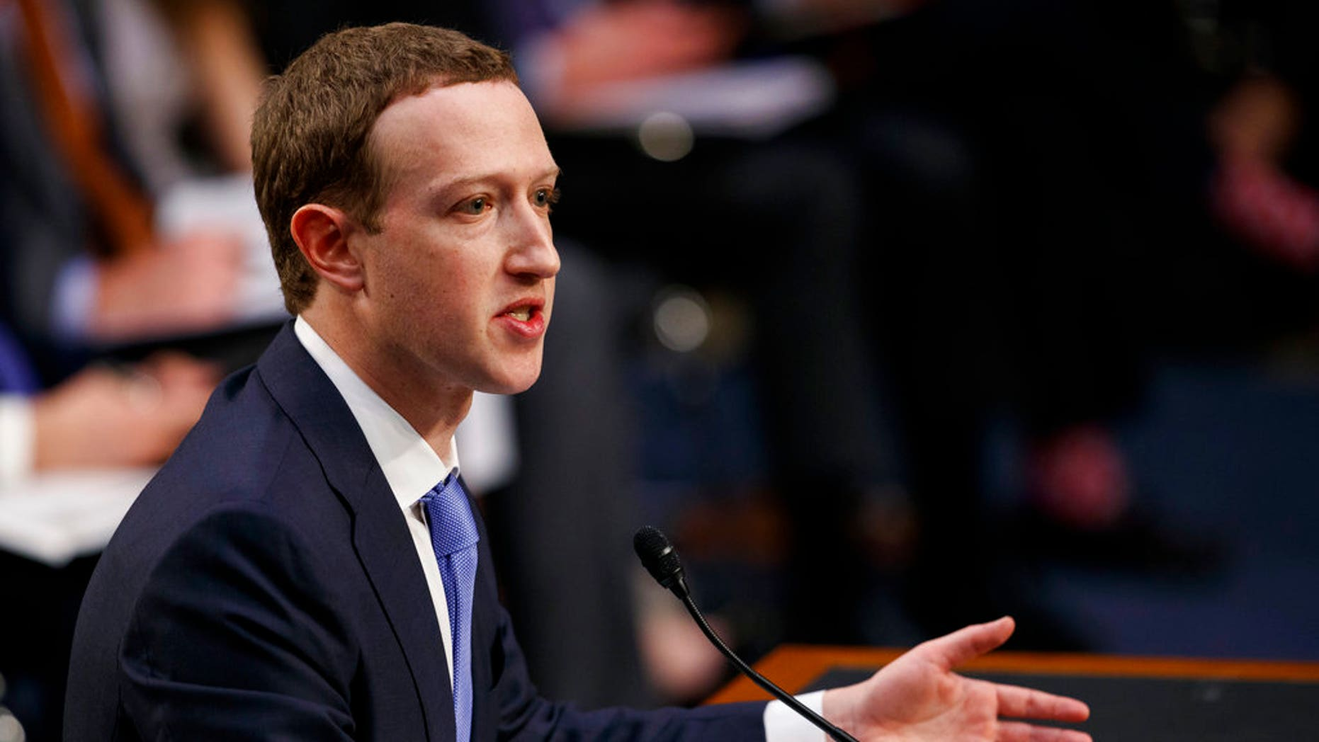 Facebook CEO Mark Zuckerberg testifies before U.S. lawmakers in April.