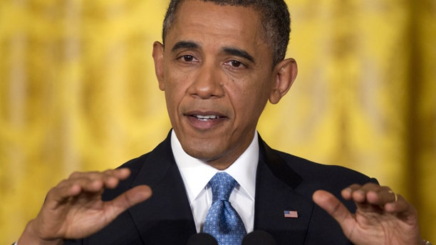 Jan. 14, 2013: President Barack Obama speaks during his final news conference of his first term.