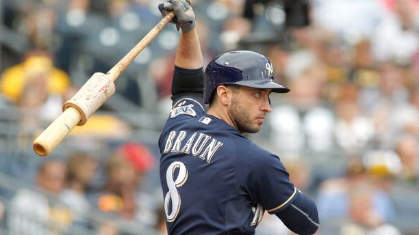 PITTSBURGH, PA - SEPTEM BER 13: Ryan Braun #8 of the Milwaukee Brewers in action during the game against the Pittsburgh Pirates at PNC Park on September 13, 2015 in Pittsburgh, Pennsylvania. (Photo by Justin K. Aller/Getty Images)