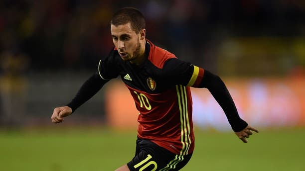 BRUSSELS, BELGIUM - NOVEMBER 13: Eden Hazard of Belgium in action during the international friendly match between Belgium and Italy at King Baudouin Stadium on November 13, 2015 in Brussels, Belgium. (Photo by Claudio Villa/Getty Images)