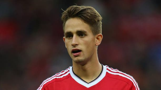 MANCHESTER, ENGLAND - AUGUST 18: Adnan Januzaj of Manchester United lines up prior to the UEFA Champions League Qualifying Round Play Off First Leg match between Manchester United and Club Brugge at Old Trafford on August 18, 2015 in Manchester, England. (Photo by Alex Livesey/Getty Images)