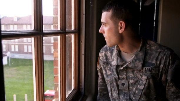 "Adam Winfield is shown in ""The Kill Team."""