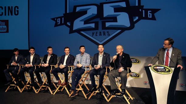 CHARLOTTE, NC - JANUARY 19: Team owner Joe Gibbs talks about the successes his drivers had last season and the expectations of the 2016 season during the NASCAR 2016 Charlotte Motor Speedway Media Tour on January 19, 2016 in Charlotte, North Carolina. Bob Leverone / NASCAR via Getty Images (Photo by Bob Leverone/NASCAR via Getty Images)