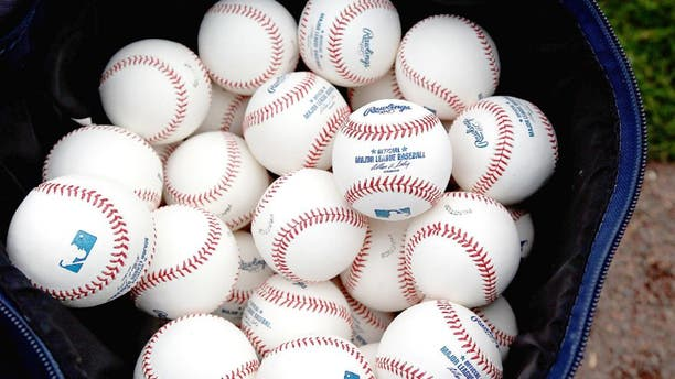 BRADENTON, FL - MARCH 17: Batting practice balls on the field just before the start of the Grapefruit League Spring Training Game between the Pittsburgh Pirates and the New York Yankees at McKechnie Field on March 17, 2013 in Bradenton, Florida. (Photo by J. Meric/Getty Images)